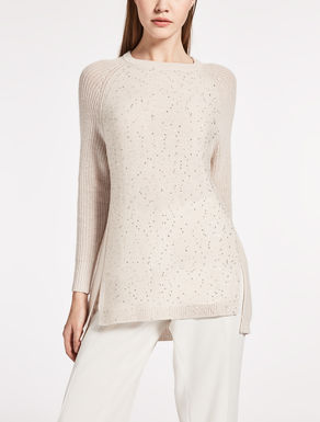 Cashmere and wool knit shirt