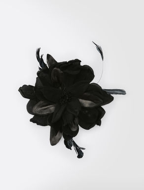 Silk flower brooch
