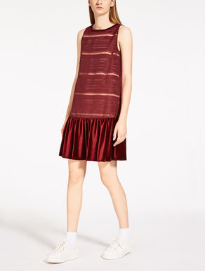 Organza and velvet dress