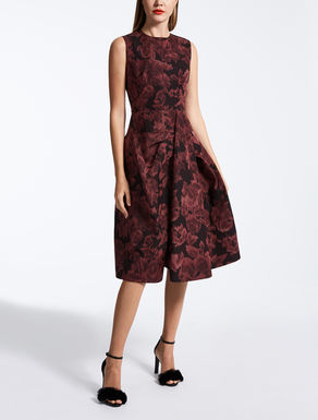 Printed faille dress