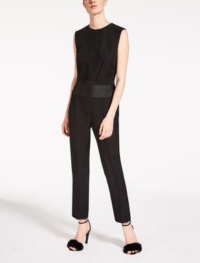 Wool and viscose cady jumpsuit