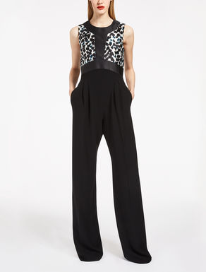 Cady and silk mikado jumpsuit