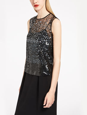 Top in paillettes