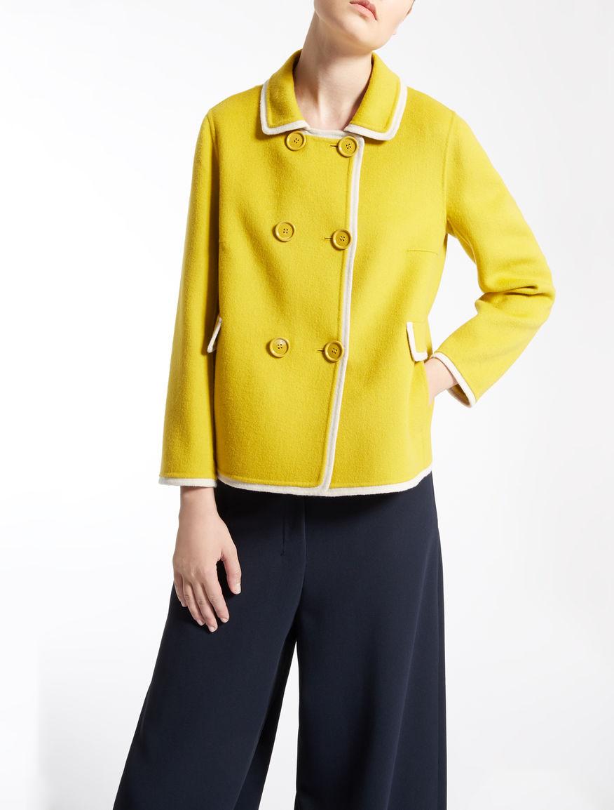 Pure wool pea coat yellow - &quotDENTICE&quot Max Mara