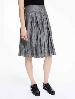 Metallic-effect fabric skirt