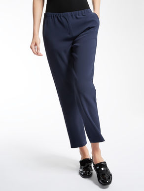 Cady and viscose trousers