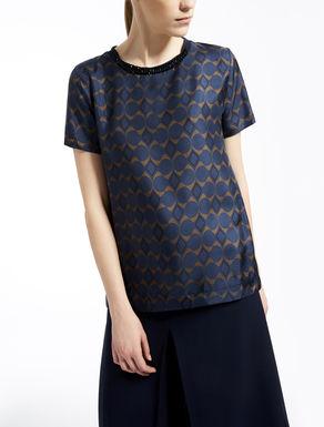 T-Shirt aus Seidentwill