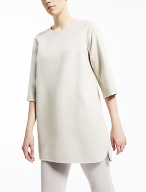 Wool and angora tunic