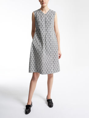 Cotton-faille dress