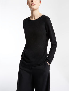 Cashmere and silk knit shirt