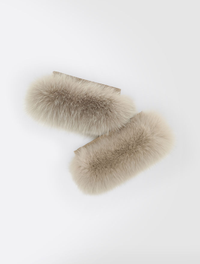 Fox fur cuffs
