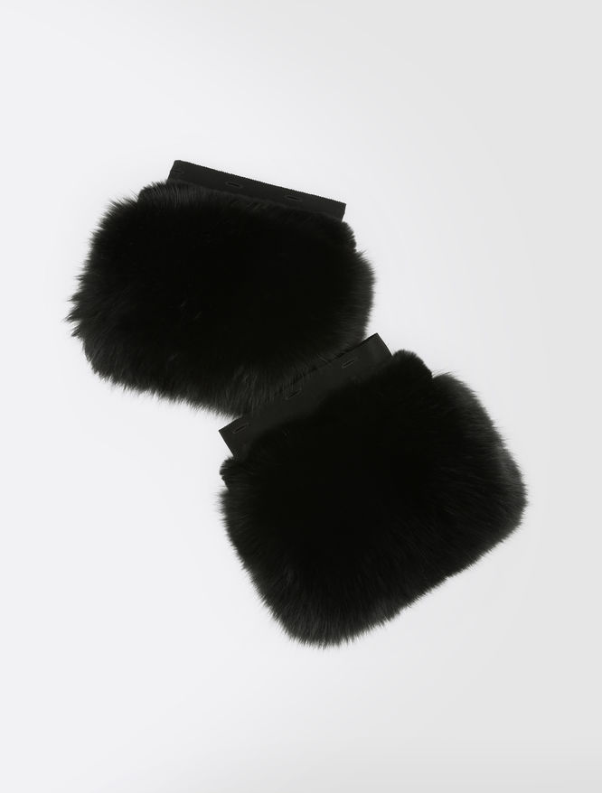 Fox and rex rabbit fur cuffs