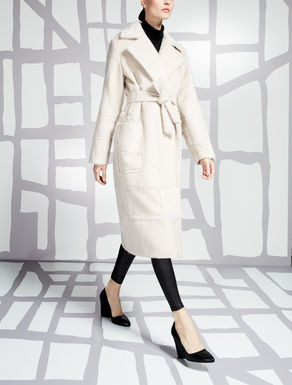 Wool, alpaca and angora coat