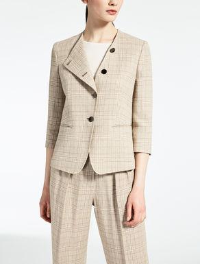 Crêpe linen jacket
