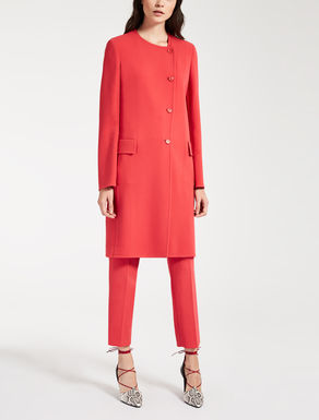 Wool crêpe duster coat