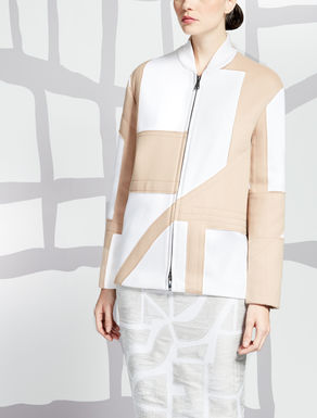Wool and angora bomber jacket
