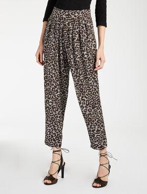 Pantaloni in seta jacquard