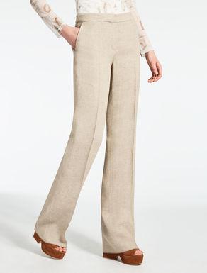 Pantalon en lin effet crêpe