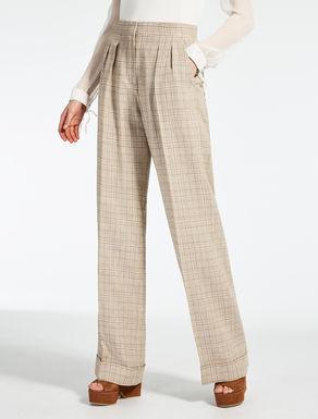 Linen crêpe trousers