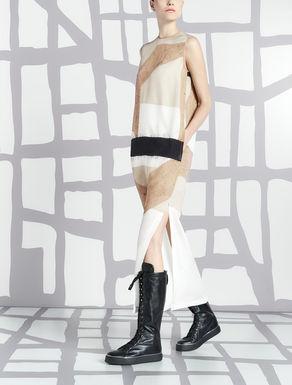 Long dress in pure silk crêpe de Chine