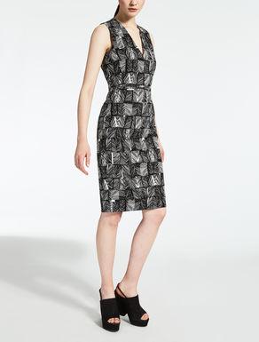 コットン ストレッチジャカード ドレス