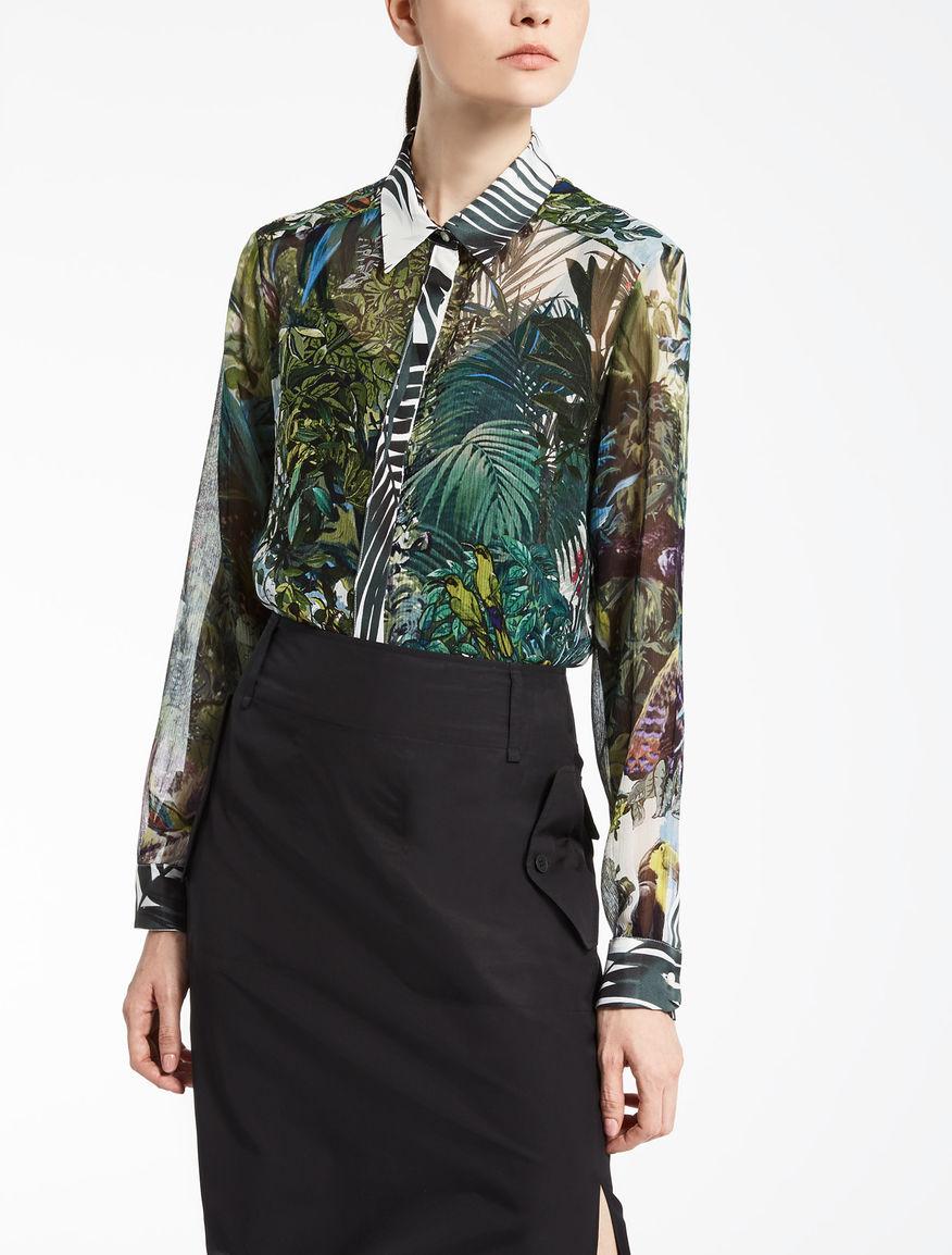 Camisa de chifón de seda