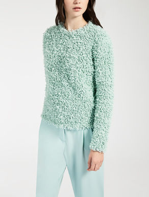 Viscose and cotton sweater