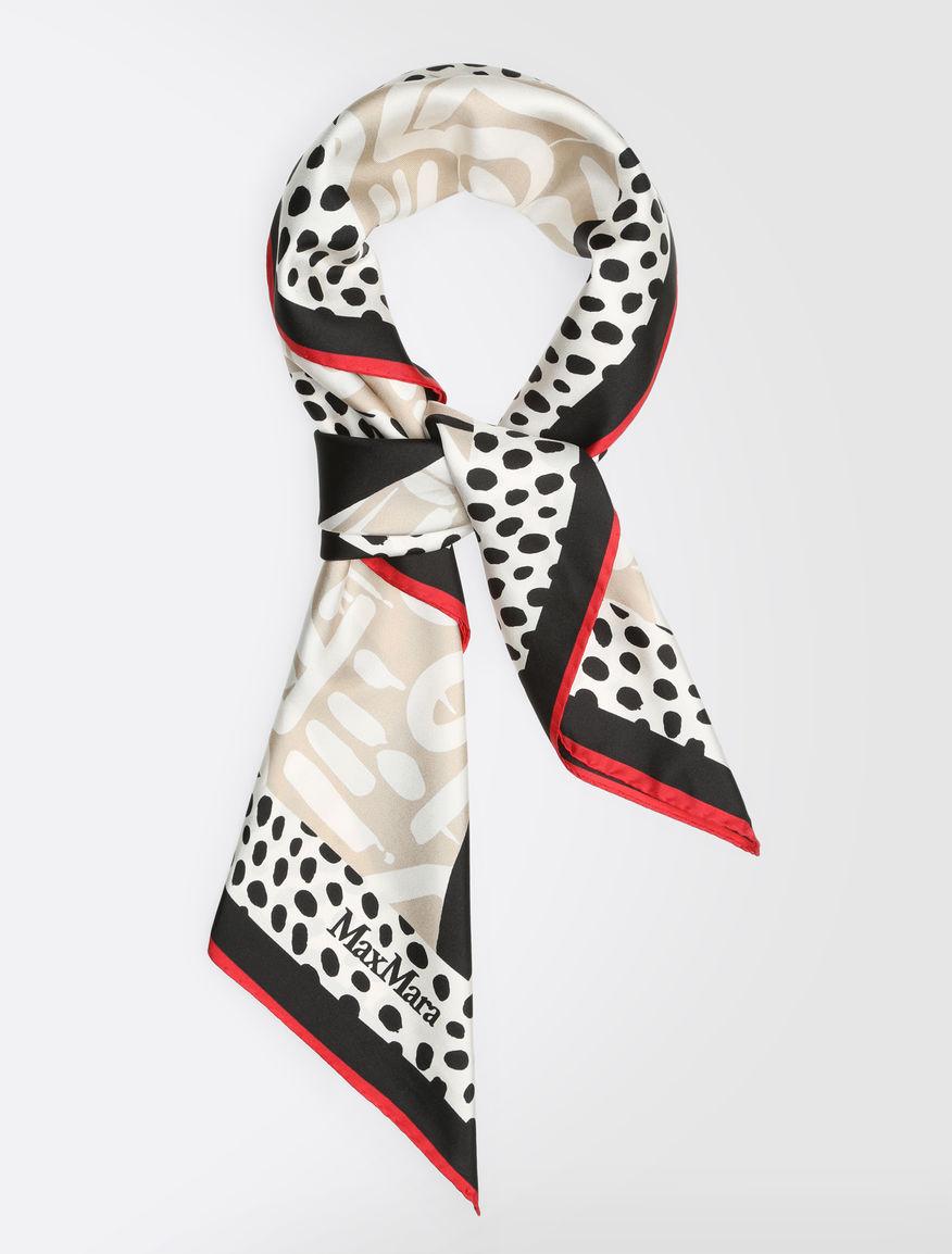 ピュアシルク ツイルプリント スカーフ