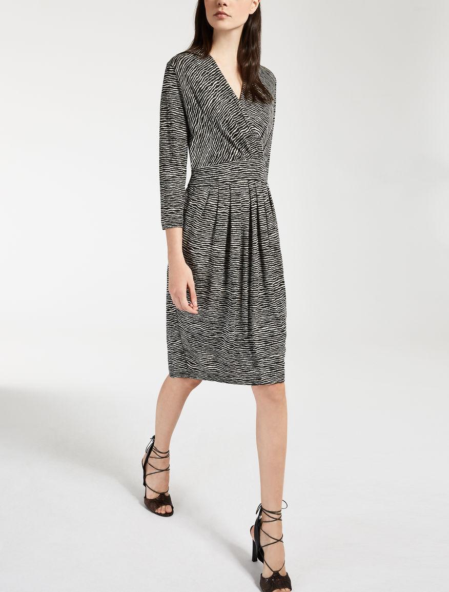ビスコース ジャージープリント ドレス
