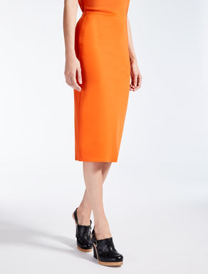 Stretch jersey skirt