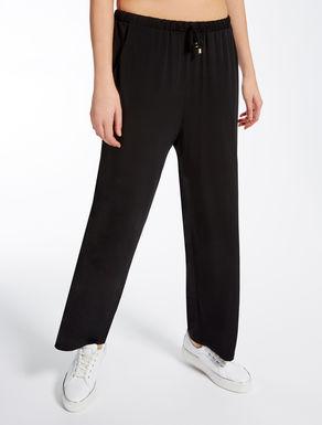 Viscose crêpe trousers