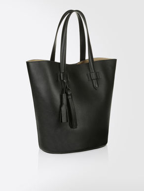 Shopper bag in deer-print leather