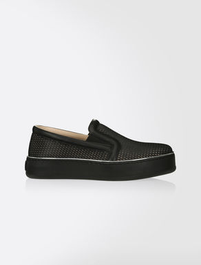 Slip-on-Sneakers aus Netz-Nappa