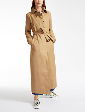 Drop-proof cotton trench coat