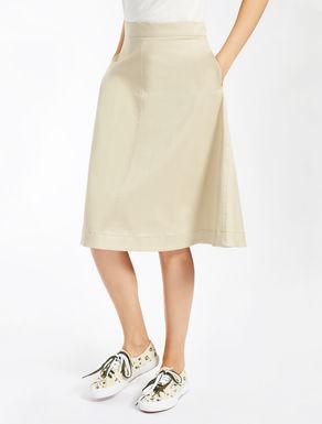 Stretch gabardine skirt