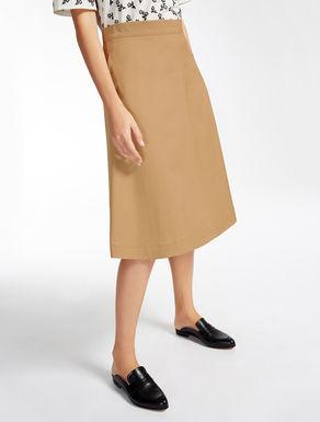 ストレッチ コットンギャバジン スカート