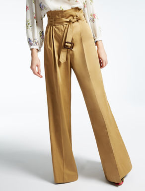 Pantaloni in raso di cotone