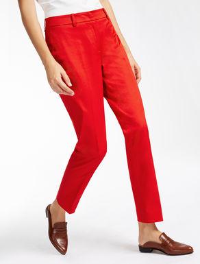 Pantaloni in gabardina di cotone