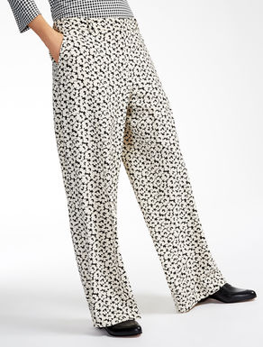 Pantalon en cady imprimé