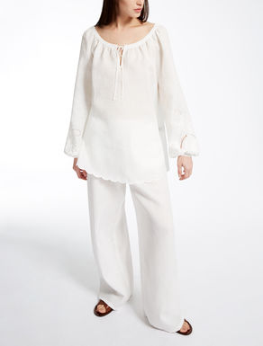 Pure linen blouse