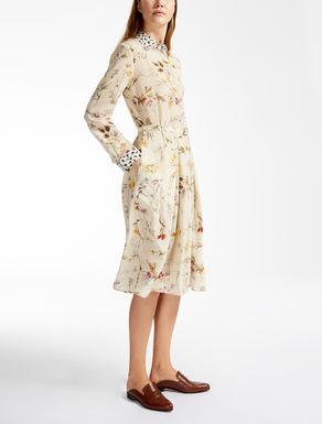 ピュア シルククレープデシン ドレス