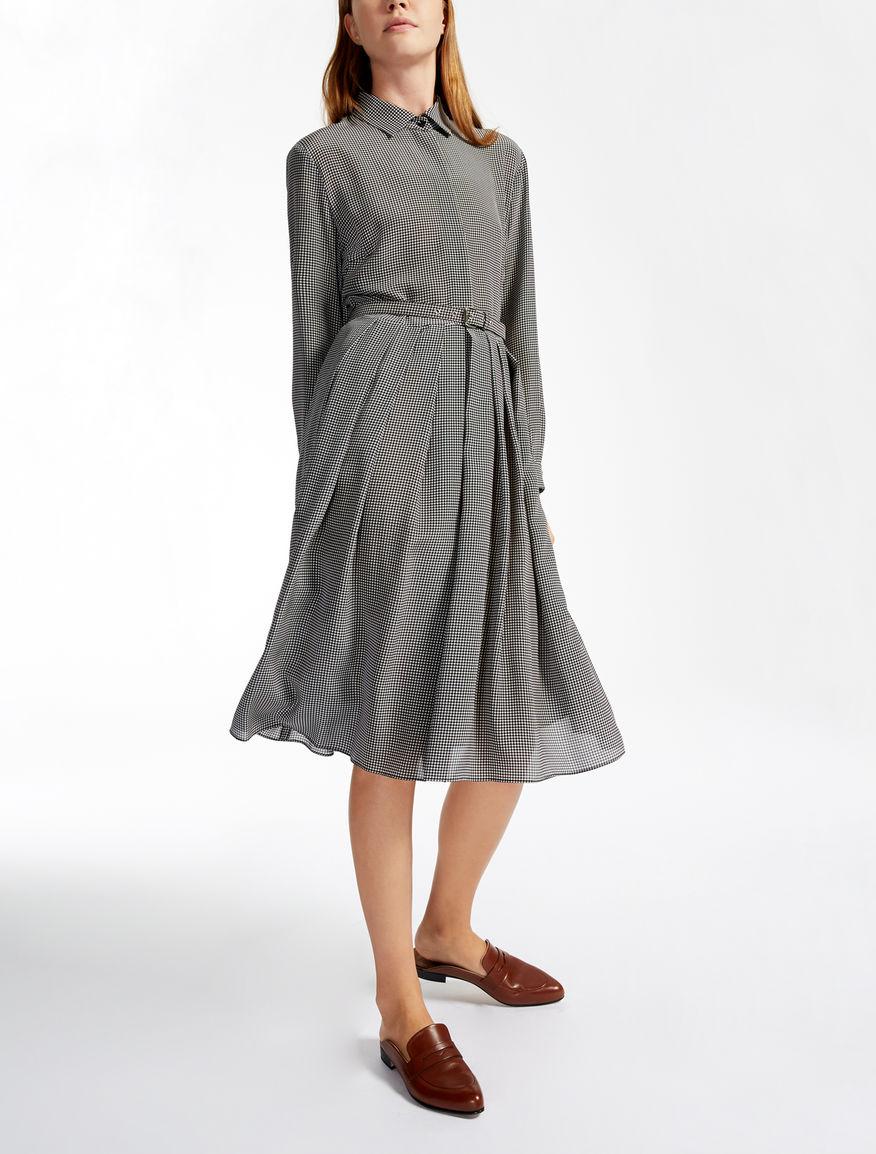 Silk dress, black