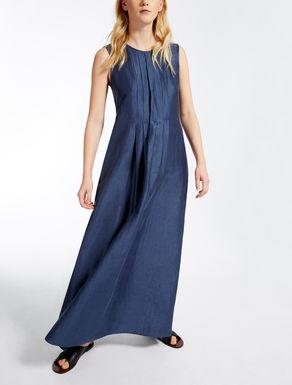 Linen and silk dress