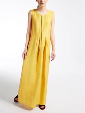 リネン シルクロング ドレス