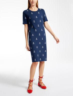 ビスコース ジャカードニット ドレス