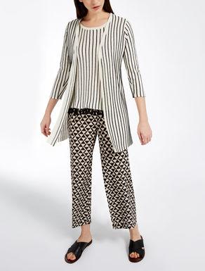 Silk and linen cardigan
