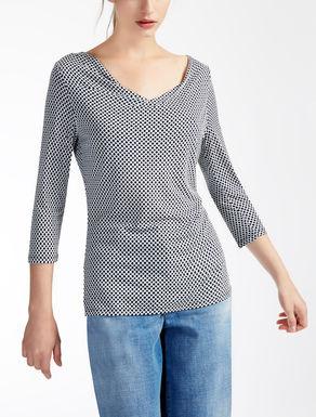 Stretch jersey sweater