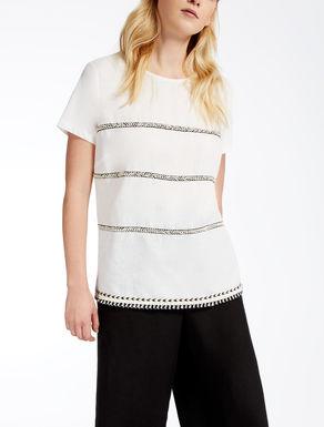 Jersey and linen T-shirt