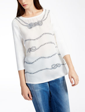 T-Shirt aus Seide und Baumwolle