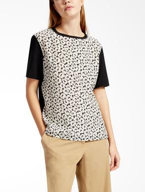 T-shirt in seta e jersey